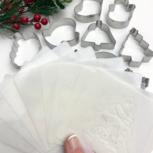 SS490 20pce Christmas Small Cookie Cutter and Stencil Set