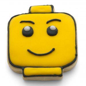 Lego head cookie cutter