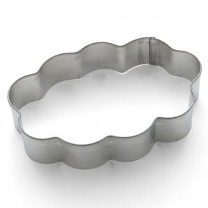 Plaque cloud shape cookie cutter