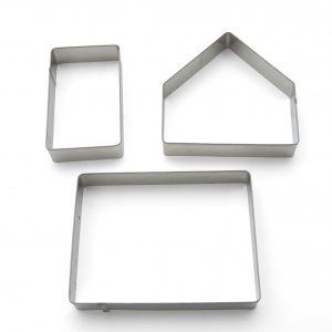 Small gingerbread house cookie cutter set