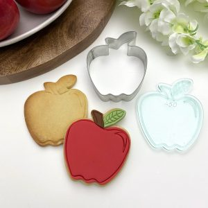 Apple with Leaf Embosser Stamp and Cookie Cutter Handmade