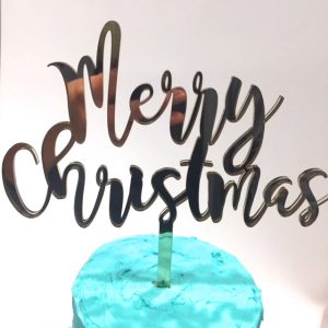 Christmas Cake Toppers.Merry Christmas Cake Topper 5 Silver Funky Font Acrylic Mc01