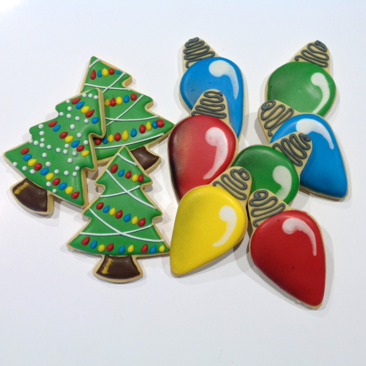 Image gallery of popular decorating christmas tree cookies royal icing