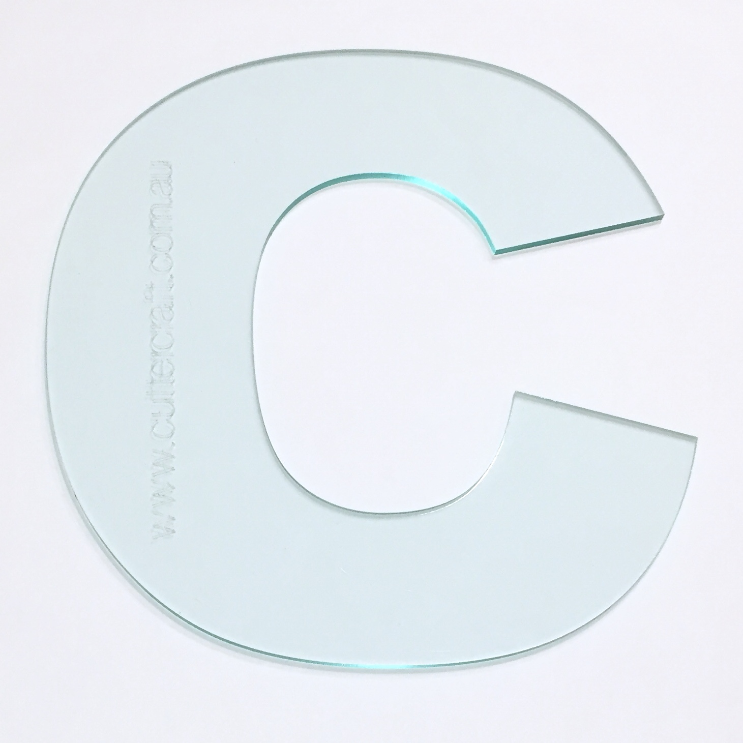 Letter C acrylic large template 29cm high ~ wide font - CutterCraft