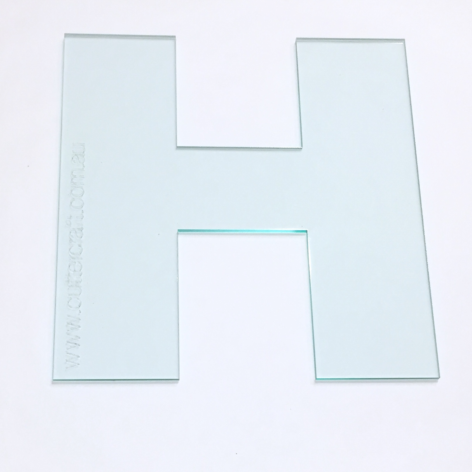 bfe019576b9 Letter H acrylic large template 29cm high ~ wide font - CutterCraft