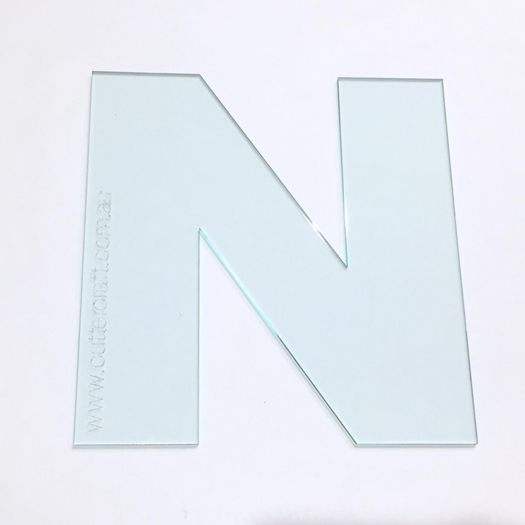 Alphabet letter n acrylic template 19cm wide font cuttercraft zoom maxwellsz
