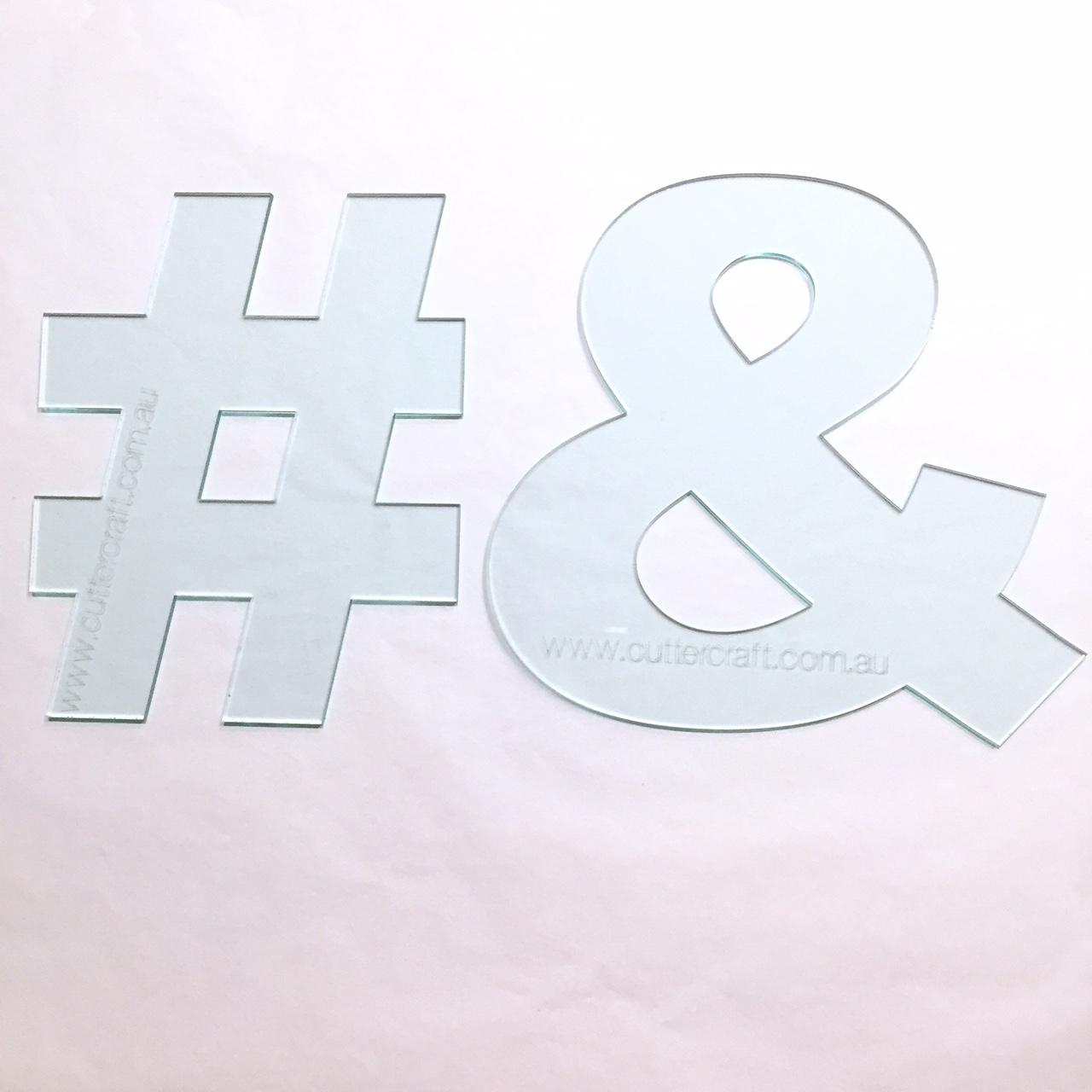 20cm high wide  u0026 symbol ampersand templates