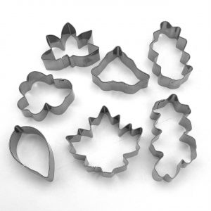SS482 Cookie Cutter Leaves Set 0f 7 SS 2